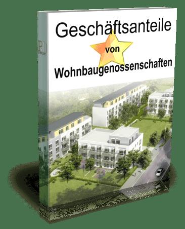 3D Cover des PDFs: Geschäftsanteile von Wohnbaugenossenschaften